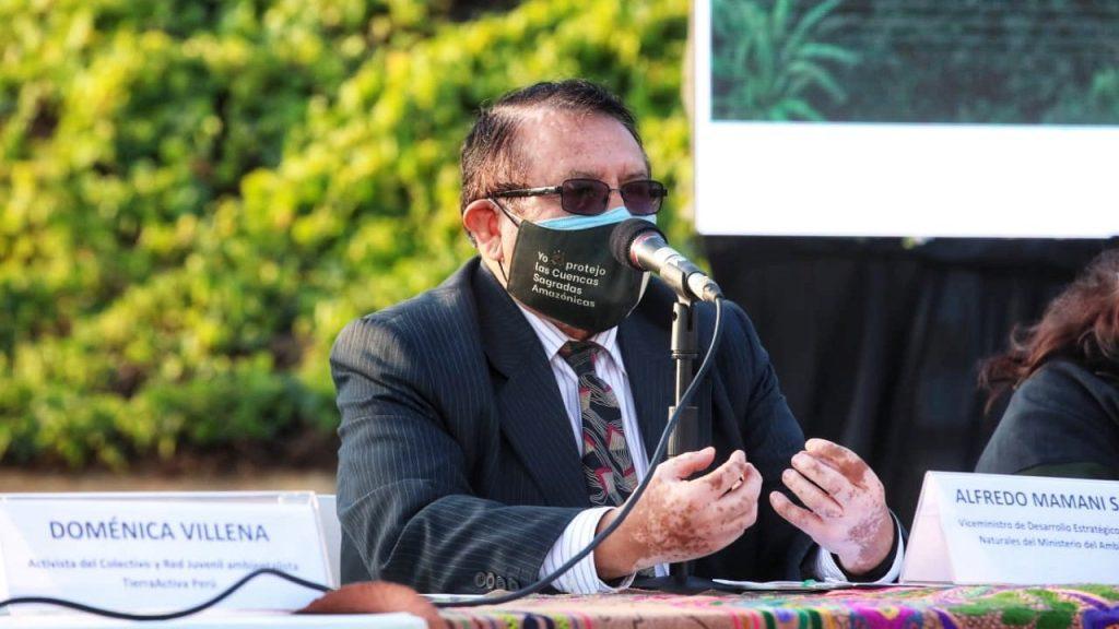 Alfredo Mamani Salinas, Viceministro de desarrollo estratégico de los Recursos Naturales del Ministerio del Ambiente. FOTO: MINAM